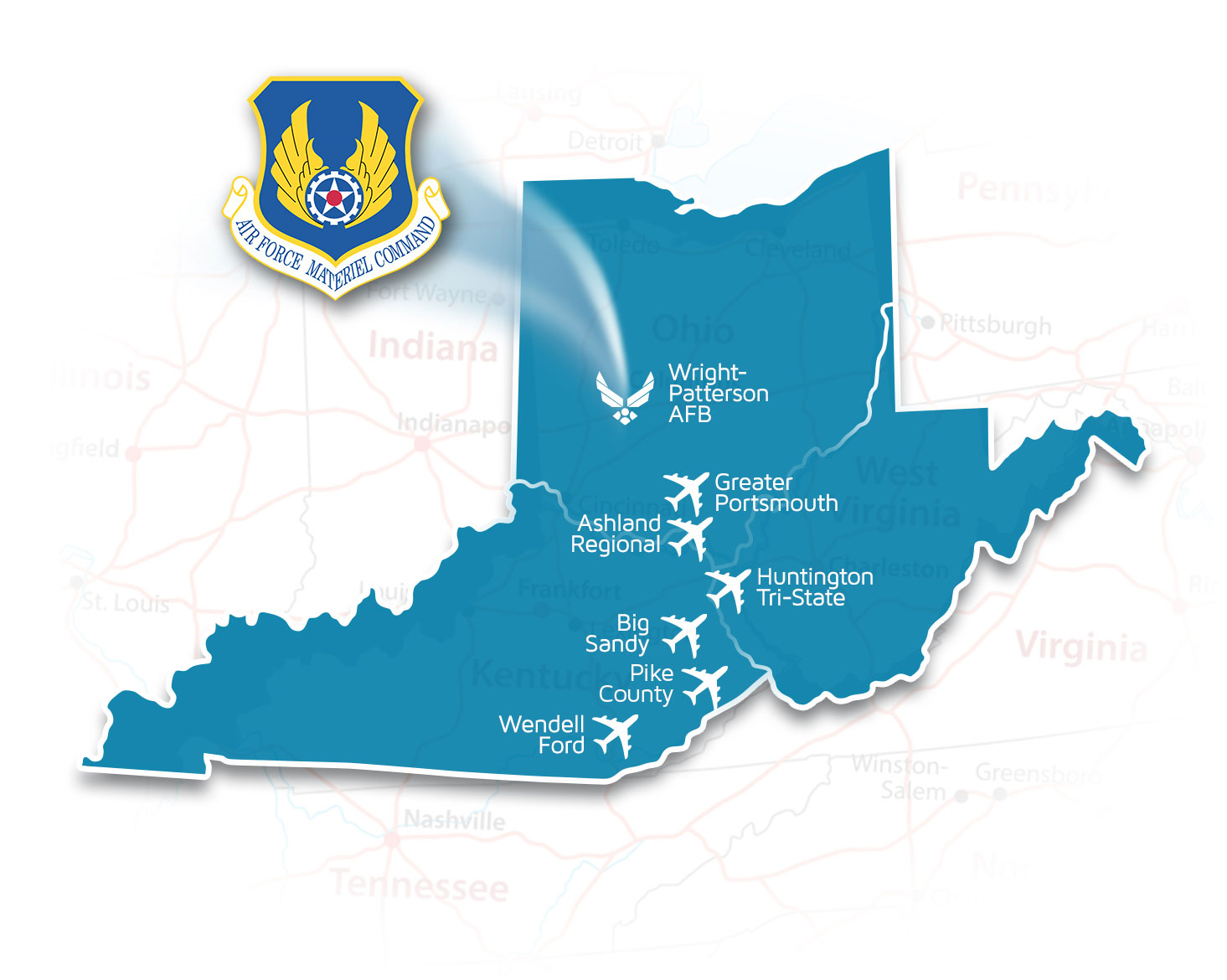 Wright-Patterson Air Force Base Located in the Appalachian Sky Region
